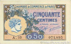 50 Centimes  FRANCE regionalismo e varie Paris 1920 JP.097.31 BB