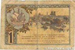 1 Franc FRANCE régionalisme et divers Paris 1920 JP.097.36 B