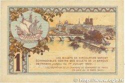 1 Franc FRANCE régionalisme et divers Paris 1920 JP.097.36 TTB+