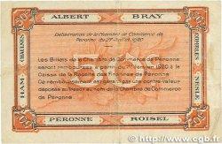 50 Centimes FRANCE régionalisme et divers Péronne 1920 JP.099.01 TB
