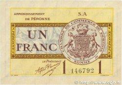 1 Franc FRANCE régionalisme et divers Péronne 1920 JP.099.02 TTB
