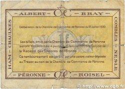 1 Franc FRANCE régionalisme et divers PÉRONNE 1920 JP.099.02 B