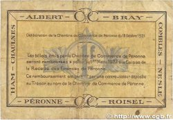 1 Franc FRANCE régionalisme et divers PÉRONNE 1921 JP.099.04 B