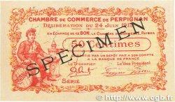 50 Centimes FRANCE régionalisme et divers Perpignan 1915 JP.100.06 SUP+
