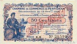 50 Centimes FRANCE régionalisme et divers Perpignan 1916 JP.100.19 TTB+