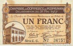 1 Franc FRANCE régionalisme et divers Perpignan 1917 JP.100.23 TTB