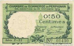50 Centimes FRANCE régionalisme et divers PERPIGNAN 1919 JP.100.27 TTB