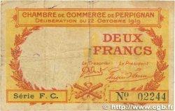 2 Francs FRANCE régionalisme et divers PERPIGNAN 1919 JP.100.30 B