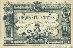 50 Centimes FRANCE régionalisme et divers POITIERS 1915 JP.101.01 TTB