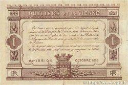 1 Franc FRANCE régionalisme et divers Poitiers 1915 JP.101.03 TTB