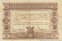1 Franc FRANCE régionalisme et divers Poitiers 1915 JP.101.06 TB