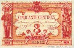 50 Centimes FRANCE régionalisme et divers Poitiers 1917 JP.101.08 TTB+