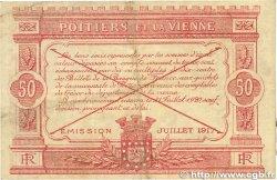 50 Centimes FRANCE régionalisme et divers POITIERS 1917 JP.101.08 TTB