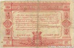 50 Centimes FRANCE régionalisme et divers POITIERS 1917 JP.101.10 TB