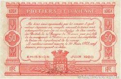 50 Centimes FRANCE régionalisme et divers Poitiers 1920 JP.101.11 TTB