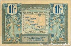 1 Franc FRANCE régionalisme et divers ALAIS, ARLES, AVIGNON, GAP, MARSEILLE, NÎMES, TOULON 1918 JP.102.08 TTB+