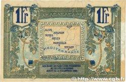 1 Franc FRANCE régionalisme et divers ALAIS, ARLES, AVIGNON, GAP, MARSEILLE, NÎMES, TOULON 1918 JP.102.12 TTB