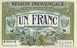 1 Franc FRANCE régionalisme et divers ALAIS, ARLES, AVIGNON, GAP, MARSEILLE, NÎMES, TOULON 1918 JP.102.12 TTB+