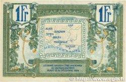1 Franc FRANCE régionalisme et divers Alais, Arles, Avignon, Gap, Marseille, Nîmes, Toulon 1918 JP.102.18 SUP+