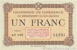 1 Franc FRANCE régionalisme et divers PUY-DE-DÔME 1918 JP.103.08 TTB+