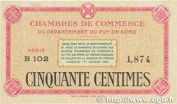 50 Centimes FRANCE régionalisme et divers PUY-DE-DÔME 1918 JP.103.12 SUP