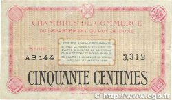 50 Centimes FRANCE régionalisme et divers PUY-DE-DÔME 1918 JP.103.15 B