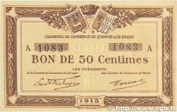 50 Centimes FRANCE regionalism and miscellaneous Quimper et Brest 1915 JP.104.01 VF