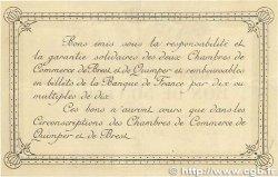 50 Centimes FRANCE régionalisme et divers Quimper et Brest 1915 JP.104.01 TTB