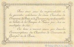 50 Centimes FRANCE régionalisme et divers Quimper et Brest 1915 JP.104.01 TTB+