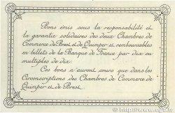 1 Franc FRANCE régionalisme et divers QUIMPER et BREST 1915 JP.104.02var. SUP