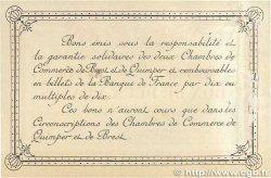 2 Francs FRANCE régionalisme et divers Quimper et Brest 1915 JP.104.03 TTB