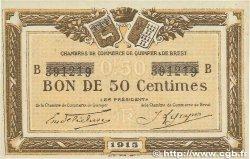 50 Centimes FRANCE régionalisme et divers QUIMPER et BREST 1915 JP.104.04 TTB