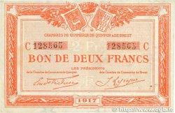 2 Francs FRANCE régionalisme et divers QUIMPER et BREST 1917 JP.104.09 TTB