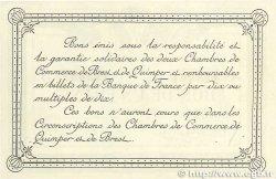 1 Franc FRANCE régionalisme et divers Quimper et Brest 1918 JP.104.11 TTB+