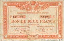 2 Francs FRANCE régionalisme et divers Quimper et Brest 1920 JP.104.18 B