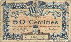 50 Centimes FRANCE régionalisme et divers RENNES et SAINT-MALO 1915 JP.105.01 B