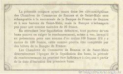 50 Centimes FRANCE régionalisme et divers RENNES et SAINT-MALO 1915 JP.105.01 TTB+