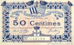 50 Centimes FRANCE régionalisme et divers RENNES et SAINT-MALO 1915 JP.105.01 SUP