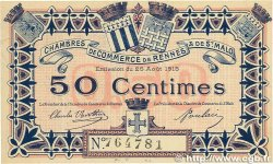 50 Centimes FRANCE régionalisme et divers RENNES et SAINT-MALO 1915 JP.105.01 pr.NEUF