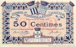 50 Centimes FRANCE régionalisme et divers  1915 JP.105.02var. TTB+