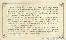1 Franc FRANCE régionalisme et divers Rennes et Saint-Malo 1915 JP.105.03 TTB+