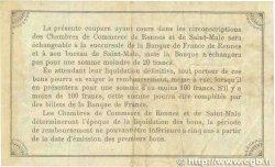 50 Centimes FRANCE régionalisme et divers Rennes et Saint-Malo 1915 JP.105.06 TB