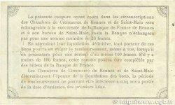 50 Centimes FRANCE régionalisme et divers RENNES et SAINT-MALO 1915 JP.105.06 TTB