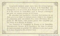 50 Centimes FRANCE régionalisme et divers RENNES et SAINT-MALO 1915 JP.105.06 TTB+