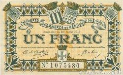 1 Franc FRANCE régionalisme et divers RENNES et SAINT-MALO 1915 JP.105.07 TTB