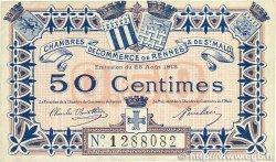 50 Centimes FRANCE régionalisme et divers RENNES et SAINT-MALO 1915 JP.105.08 TTB
