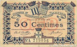 50 Centimes FRANCE régionalisme et divers RENNES et SAINT-MALO 1915 JP.105.10 TB