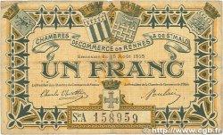 1 Franc FRANCE régionalisme et divers Rennes et Saint-Malo 1915 JP.105.11 B