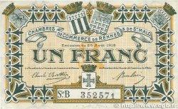 1 Franc FRANCE régionalisme et divers Rennes et Saint-Malo 1915 JP.105.15 TTB