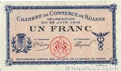 1 Franc FRANCE régionalisme et divers Roanne 1915 JP.106.04 SUP